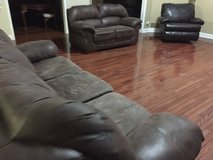 Bonded Leather Couch, Loveseat, Rocker/Recliner in Naperville, Illinois