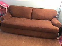 used pull out couch with 2 piece cover in Naperville, Illinois