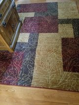 AREA RUG, 5' x 7' ..burgundy/gold on kitchen in Naperville, Illinois