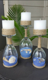 Candle holders in Fort Irwin, California
