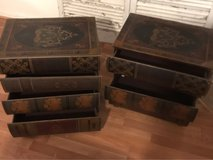 """Pair of """"books"""" accent tables. in Kingwood, Texas"""