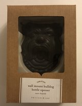 Pottery Barn bulldog Bottle Opener Cast Iron Walll Mount New Open Box. in Cleveland, Texas