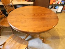 Shin Lee Solid Oak Table and Chairs in Clarksville, Tennessee
