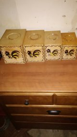 Vintage Wood Canister Set in 29 Palms, California