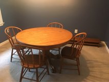 solid oak table and antique bentwood chairs in Bolling AFB, DC