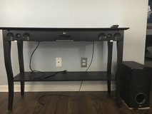 LG Soundbar and Woofer / Pier 1 Console Table in Wilmington, North Carolina