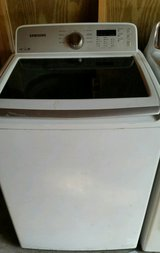 Samsung Energy star washer with see through glass top lid in Fort Rucker, Alabama