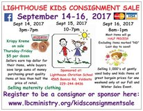 Lighthouse Kids Consignment Sale- Sept 14-16th.  4565 Bemiss Rd Valdosta GA 229-244-8436 Taking ... in Moody AFB, Georgia