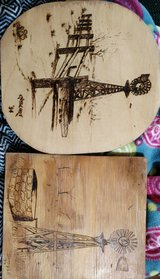 Wood burning from 90's in Alamogordo, New Mexico