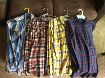 4 Flannel Long Sleeve Shirts Size L in Camp Pendleton, California
