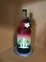 Decorative wine bottles in Las Cruces, New Mexico