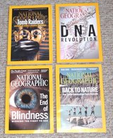 4 Issues of National Geographic Magazine in Joliet, Illinois