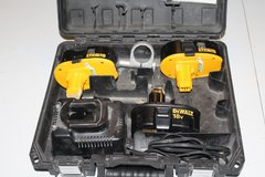 Three 18 volt  Battery's, Charger, and Case for DeWalt in Fort Polk, Louisiana