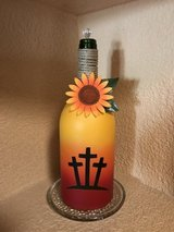 Deco wine bottles in Las Cruces, New Mexico