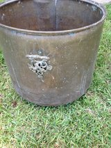 Brass flower pot in Fort Polk, Louisiana