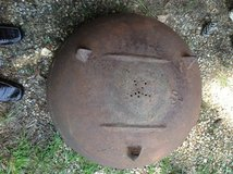 Old cast iron wash pot in Fort Polk, Louisiana