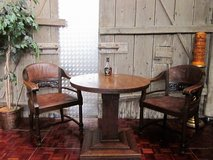 Two Late 1800s Parlor Chairs with Oak Table in Ramstein, Germany