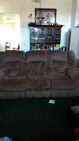 Dark Brown couch that reclining with 2 recliner chair  set in Barstow, California