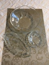 3pc. Clear Glass Serving Set in Fort Campbell, Kentucky