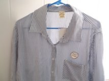 WOMANS FADED GLORY BLUE & WHITE STRIPED SHIRT SIZE 16W in Alamogordo, New Mexico