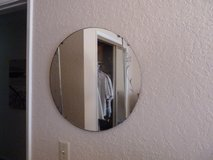 Antique 3 piece etched glass mirror in Oceanside, California