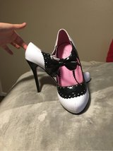 White/Black Bow High Heels in Tomball, Texas