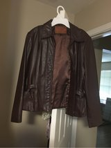 Real Leather Brown Bomber jacket in Tomball, Texas