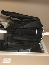 Real Leather Black bomber jacket in Tomball, Texas