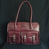 Woman large elegant tote handbag in 29 Palms, California