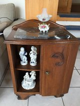 Vintage Side Table / Night Stand / corner table with Marble Top in Ramstein, Germany