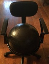 Health and Fitness Arm rest balance ball chair with ball in Fort Polk, Louisiana