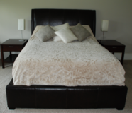 Leather Queen Bed Headboard & Surround in CyFair, Texas