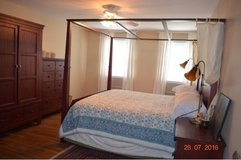 4 poster king size bed frame and box spring in Batavia, Illinois