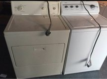 Kenmore washer and electric dryer in Camp Pendleton, California