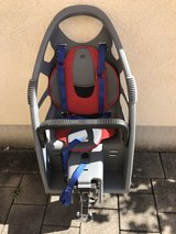 Child bicycle seat in Ramstein, Germany