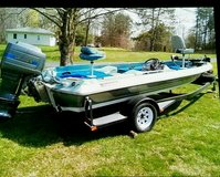 1985 tournament series Winner Bass Boat in Fort Campbell, Kentucky