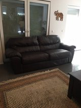 Brown Leather Sofa Set in Ramstein, Germany