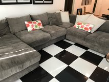 Grey Sectional Couch in Kingwood, Texas