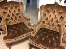 Two wingback chairs in Lawton, Oklahoma