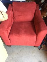 Red Couch and Chair in Fort Irwin, California