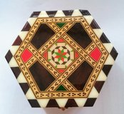 New $$$!! Vintage Inlay Marquetry Music Box in DeKalb, Illinois