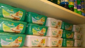 Pampers wipes in container in Hinesville, Georgia