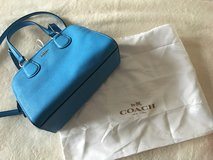 Coach Nolita Mini Satchel in Azure Blue Pebble leather in Ramstein, Germany