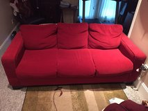 Red Couch Bed (Very nice) in Camp Lejeune, North Carolina