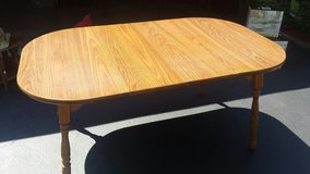 Oak table with formica top in Naperville, Illinois
