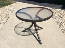 Small patio side table in Sugar Grove, Illinois