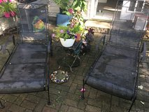 Wrought Iron Chaise Loungers- A pair in Naperville, Illinois