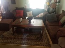 Almost new Dark brown microfiber couch set (4pieces) in Fort Polk, Louisiana