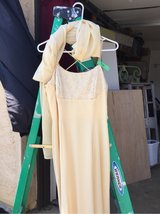 Light Yellow formal dress with long scarf/shawl in Travis AFB, California