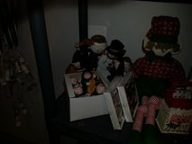 LOT OF 5 MERRYMAN FROM CARSON'S  SNOWMAN DOOR STOP AND 20 INCH ELF in Naperville, Illinois